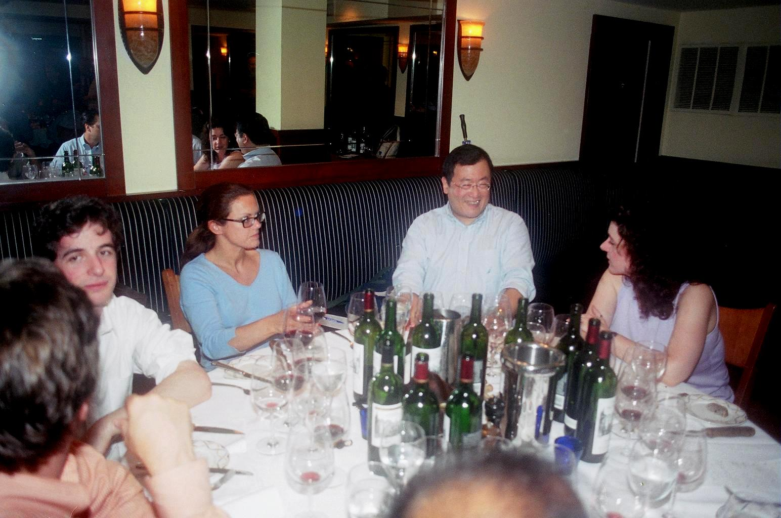 montelena estate cabernet dinner  table 2 l to r matt erdman debbie kuklis howard chin veronica stork